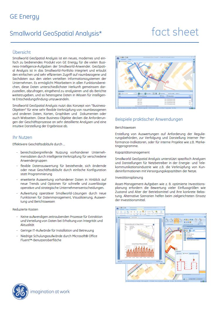 gsa smallworld geospatial analysis deutsch